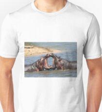 Smooching hippo style!! Unisex T-Shirt