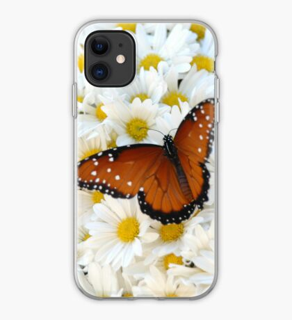 Butterfly on Daisies - iPhone Case iPhone Case