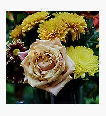 Bouquet with Rose Photographic Print