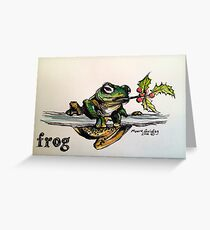 Christmas frog. Elizabeth Moore Golding© Greeting Card
