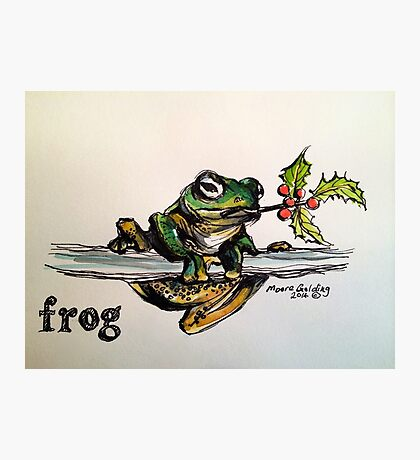 Christmas frog. Elizabeth Moore Golding© Photographic Print