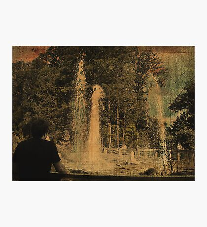 Wathing the Geyser 2 Photographic Print