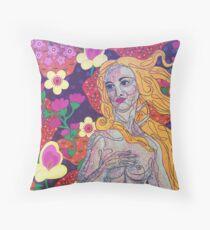 Venus goes Retro Throw Pillow