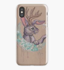 Rabbit in the Moon iPhone Case