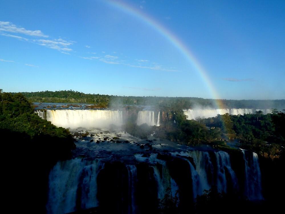 rainbow at Iguassu Falls by supergold