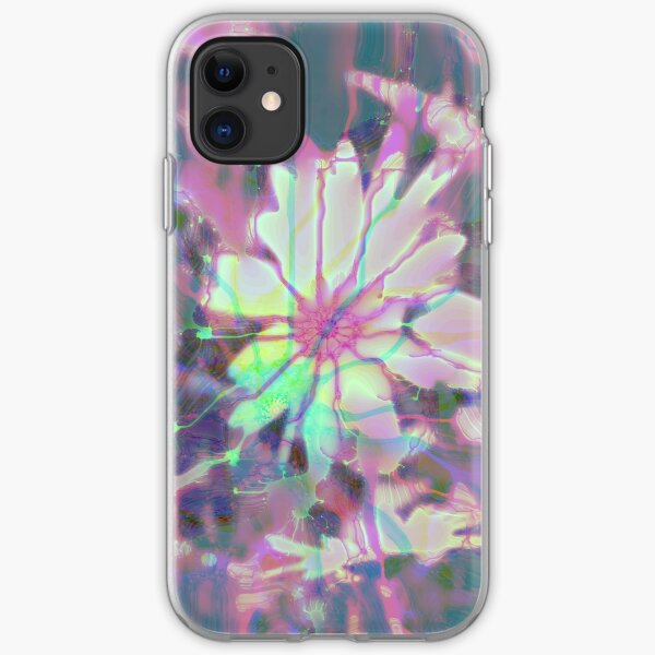 Floral abstraction iPhone Soft Case