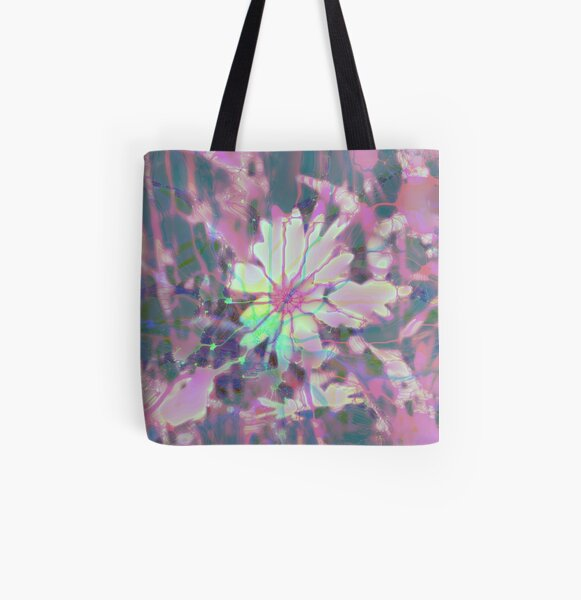 Floral abstraction All Over Print Tote Bag