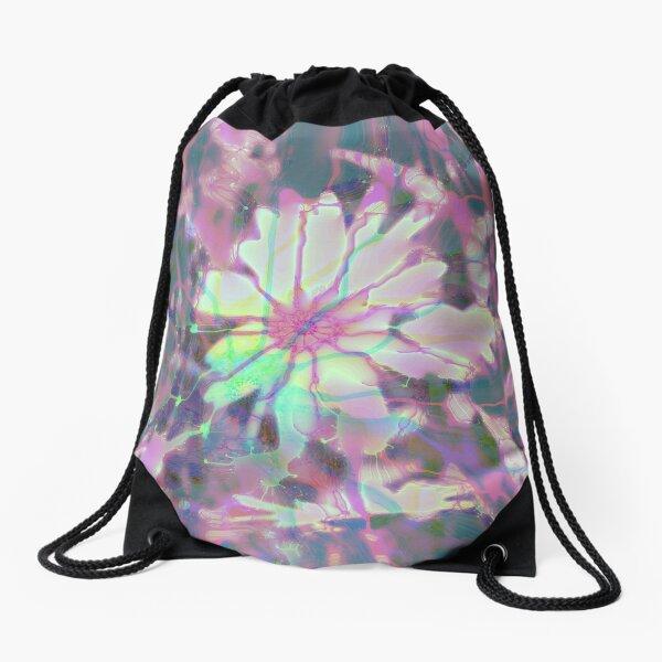 Floral abstraction Drawstring Bag