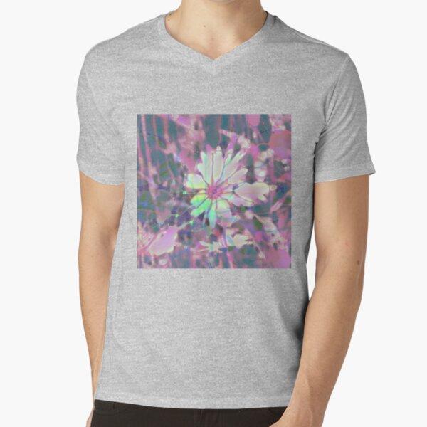 Floral abstraction V-Neck T-Shirt