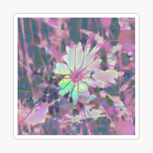 Floral abstraction Glossy Sticker