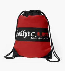 Gothic.Life (striped) Drawstring Bag