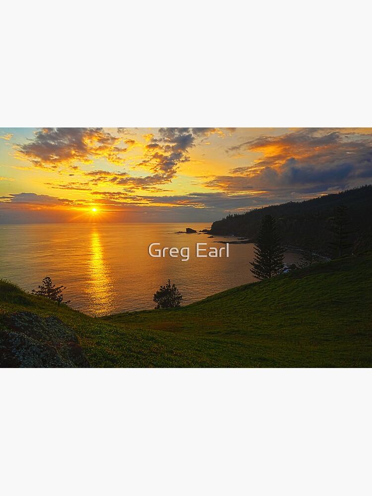 Duncome Bay Sunrise - Norfolk Island by GregEarl