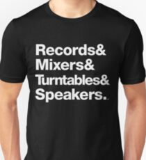 Dr. Dre & Records & Turntables Classic Threads T-Shirt
