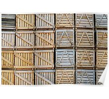 Stacks of wooden crates Poster