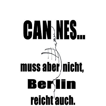Cannes Berlin (iPhone & Tshirt Design) by Juni