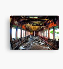 Train to abandonement Canvas Print