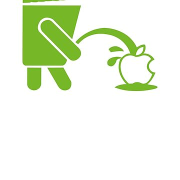 Android Peeing On Apple Cool by abah776