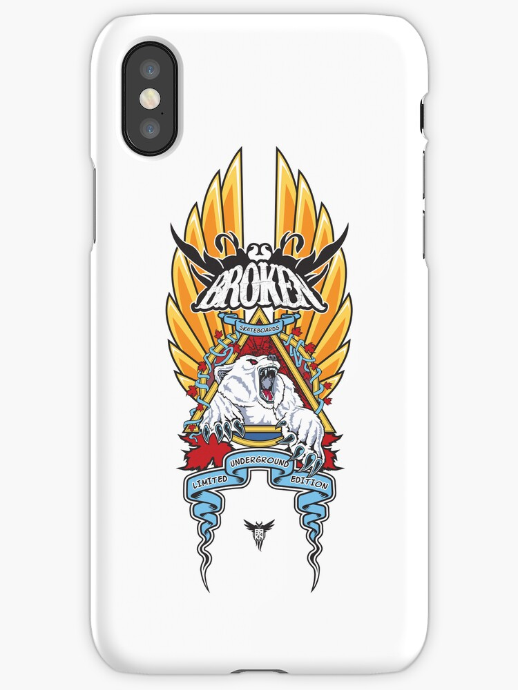 Polar Natas White iPhone Case by BrokenSk8boards