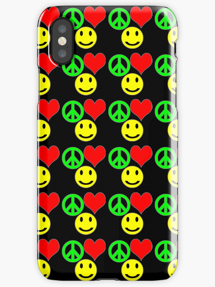 peace, love and happiness i-phone by dedmanshootn
