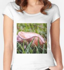 Abstract fungus in grass Women's Fitted Scoop T-Shirt