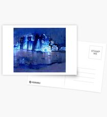 blue light Postcards