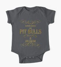 Pit Bulls One Piece - Short Sleeve