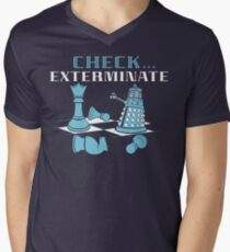 Check Exterminate Men's V-Neck T-Shirt