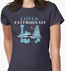 Check Exterminate Women's Fitted T-Shirt