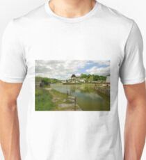 The Harbour With No Boats, Pentewan Unisex T-Shirt