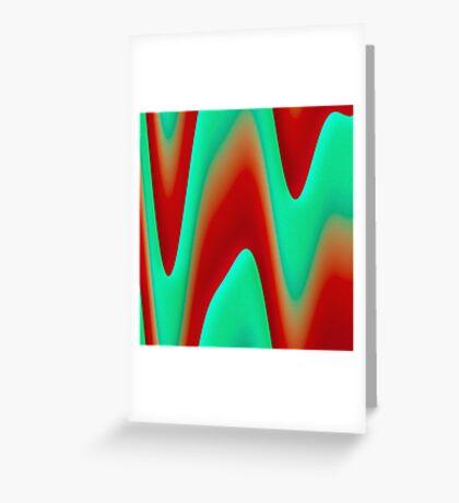 Plaster waves Greeting Card