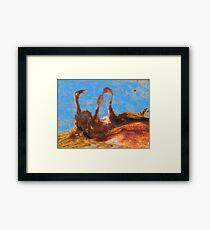 Three Rusty Geese Framed Print