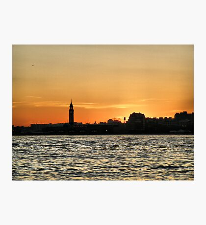 Sunset Over Jersey Photographic Print