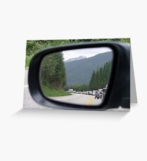 Side Mirror View Greeting Card