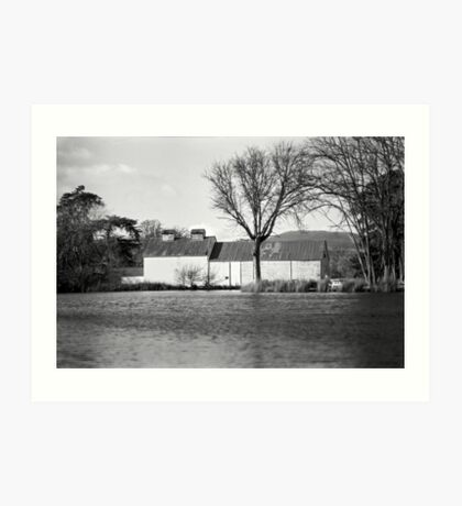 Pond & Oast House, Tasmania Art Print