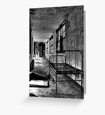 Psych Hall Patient Bed Greeting Card