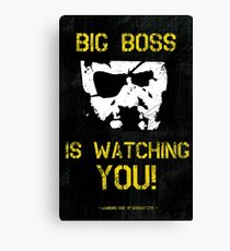 The Phantom Pain Big Boss is Watching You Canvas Print