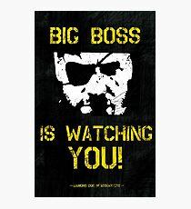The Phantom Pain Big Boss is Watching You Photographic Print