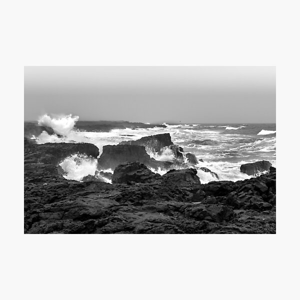 The force of the sea at Reykjanes peninsula  Photographic Print