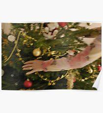 Woman decorating Christmas tree Poster