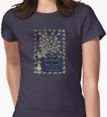 Pride and Prejudice Peacock Cover Womens Fitted T-Shirt