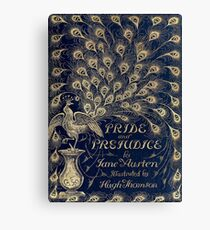 Pride and Prejudice Peacock Cover Canvas Print