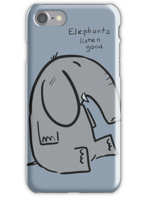 elephants are good listeners by Paul McClintock