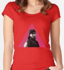Omar Little: Silence = Death Women's Fitted Scoop T-Shirt