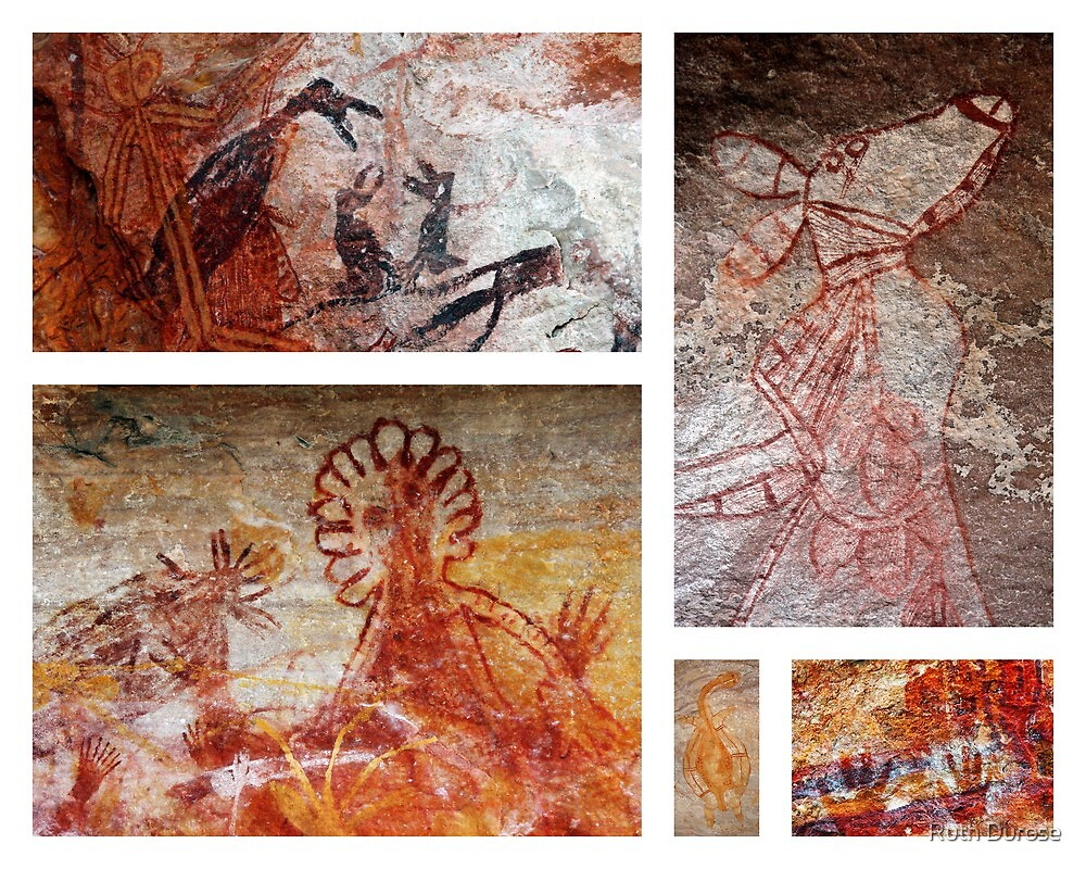 Aboriginal Rock Art - Arnhem Land, Northern Territory, Australia by Ruth Durose