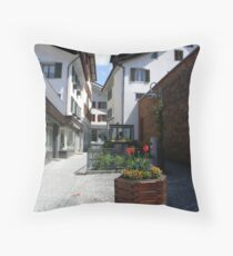 Tulip petals and Cobblestone  Throw Pillow
