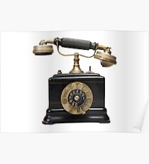 Antique dial telephone Poster