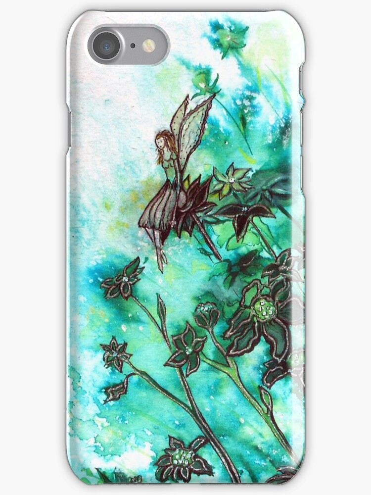Fairy Flowers iPhone Case by Linda Callaghan