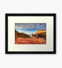 Blue holes beach, Kalbarri Framed Print