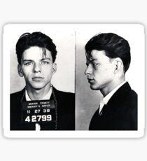 Frank Sinatra Mug Shot Sticker