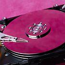 Computer hard drive by Sami Sarkis